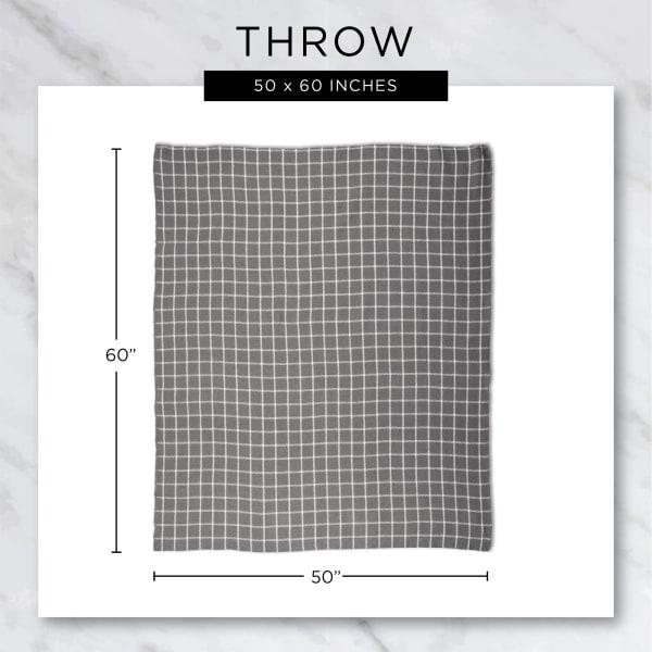 Stone Chevron Plush Throw
