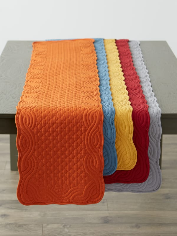 Pumpkin Spice Quilted Farmhouse Table Runner