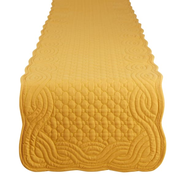 Honey Gold Quilted Farmhouse Table Runner
