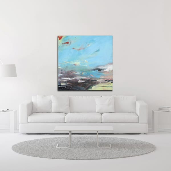 Cerulean Skies by Andrew Kinmont Wrapped Canvas Wall Art