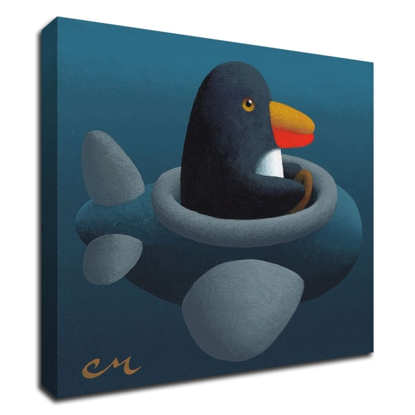 Penguin by Chris Miles Wrapped Canvas Wall Art