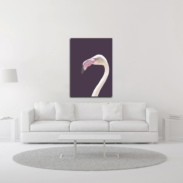 The Flamingo by Design Fabrikken Wrapped Canvas Wall Art