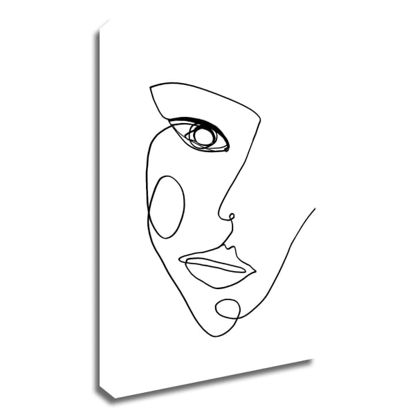 Face Line 2 by Design Fabrikken Wrapped Canvas Wall Art
