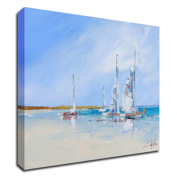 Aspendale Sails by Craig Trewin Penny Wrapped Canvas Wall Art