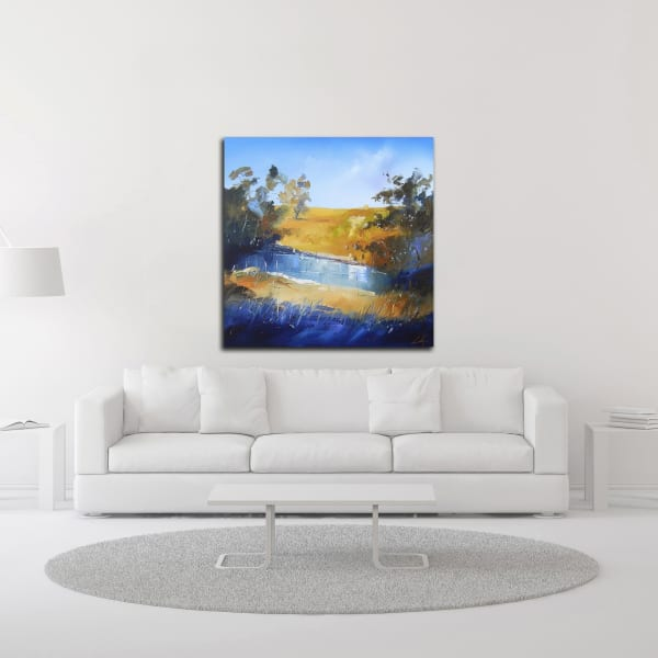 Winter Dam by Craig Trewin Penny Wrapped Canvas Wall Art