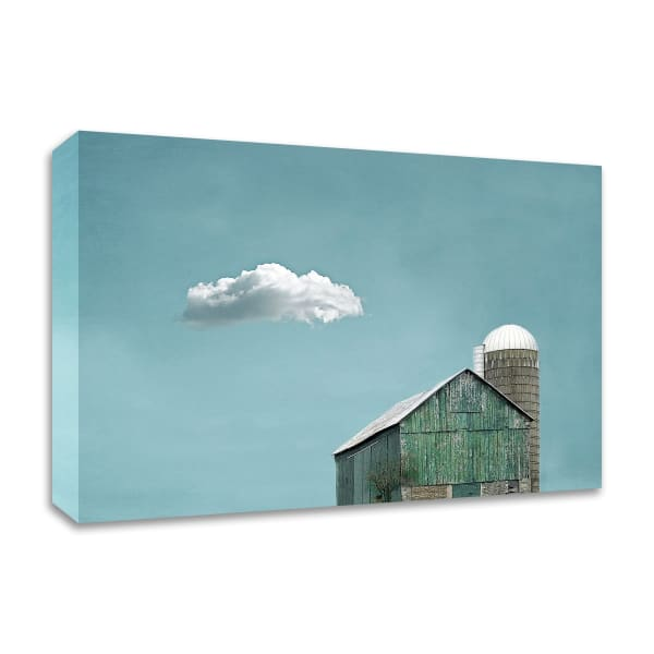 Green Barn and Cloud by Brooke T. Ryan Wrapped Canvas Wall Art