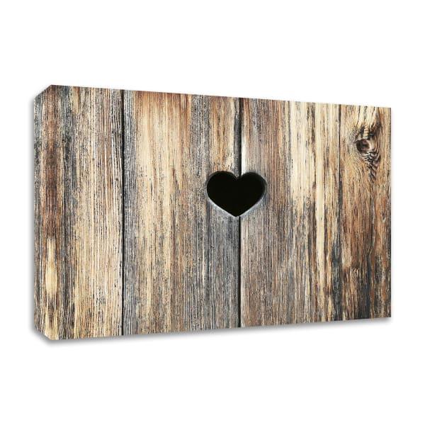 Heart in Wood by Brooke T. Ryan Wrapped Canvas Wall Art