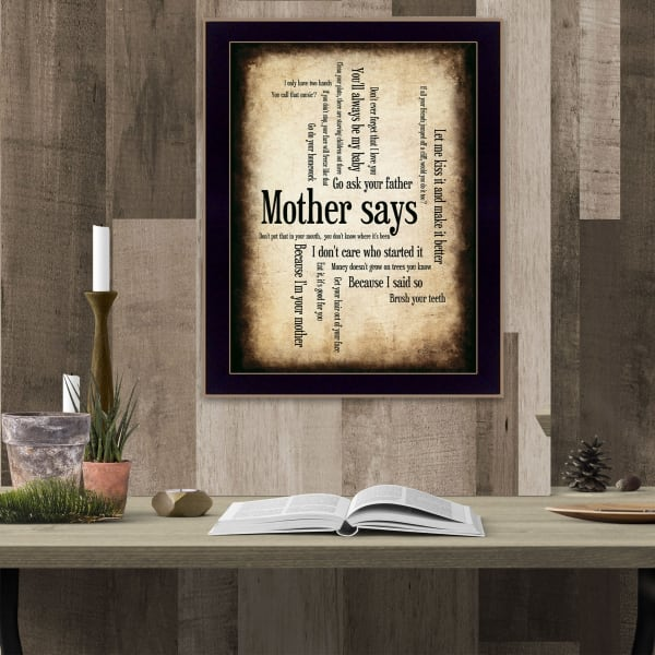 Mother Says By Susan Boyle Printed Wall Art