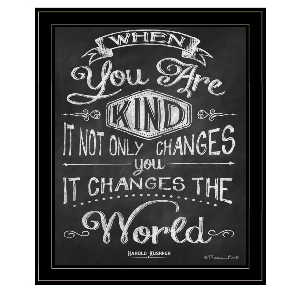When You Are Kind by Susan Ball Framed Wall Art
