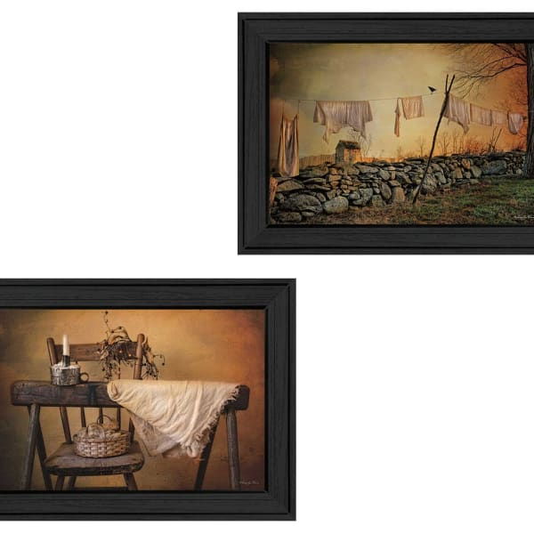 Linen on The Line Collection By Robin-Lee Vieira Framed Wall Art