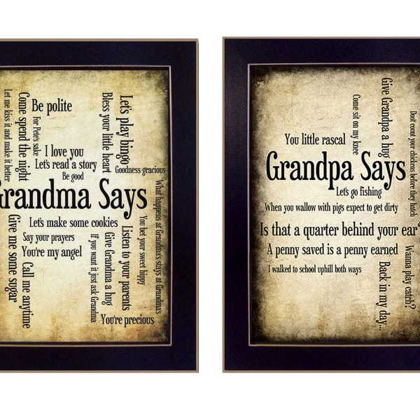 Grandparents Collection By Susan Ball Framed Wall Art