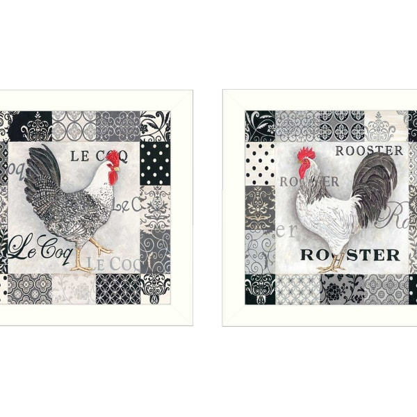 Rooster II Collection By Deb Strain Framed Wall Art