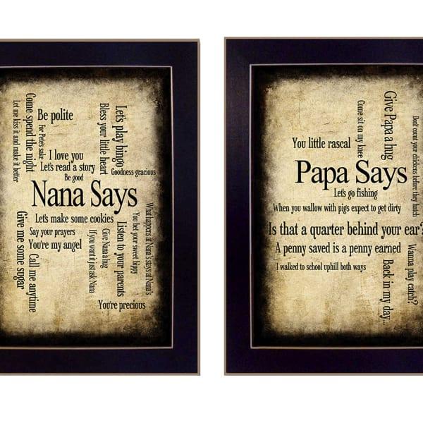 Nana/Papa Collection By Susan Ball Framed Wall Art