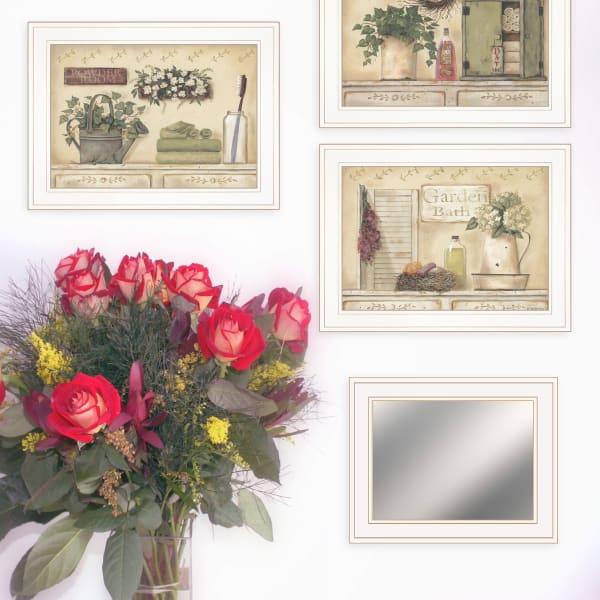 Garden Bath Collection By Pam Britton Framed Wall Art