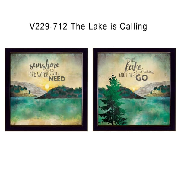 The Lake is Calling Collection By Marla Rae Framed Wall Art