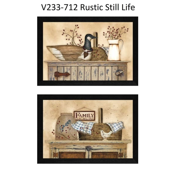 Rustic Still Life Collection By Linda Spivey Framed Wall Art