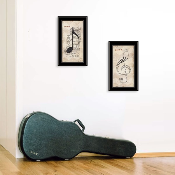 Music Collection 2-Piece Vignette By Marla Rae  Framed Wall Art