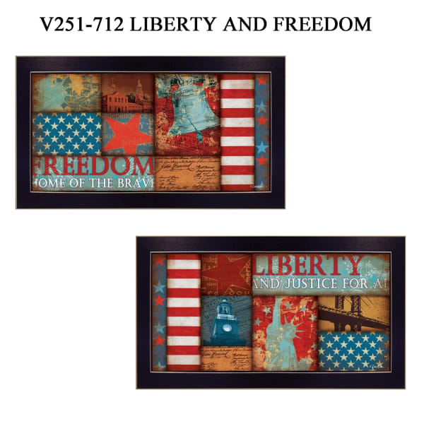 Liberty and Freedom Collection By Marla Rae Framed Wall Art