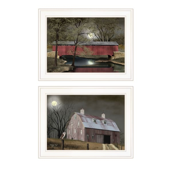 Midnight Moon By Billy Jacobs Framed Wall Art