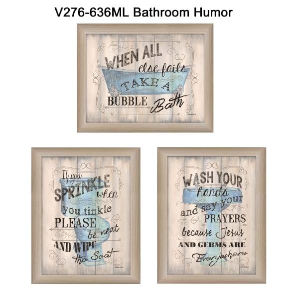 Bathroom Humor Collection By Debbie DeWitt Framed Wall Art