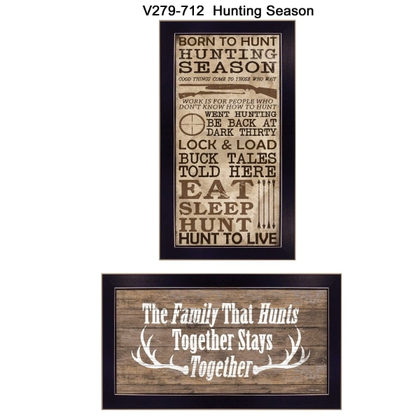 Hunting Season Collection By Dee Dee Framed Wall Art
