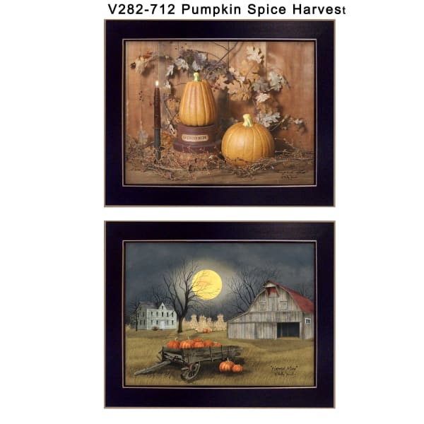 Pumpkin Space Harvest Collection By Billy Jacobs Framed Wall Art