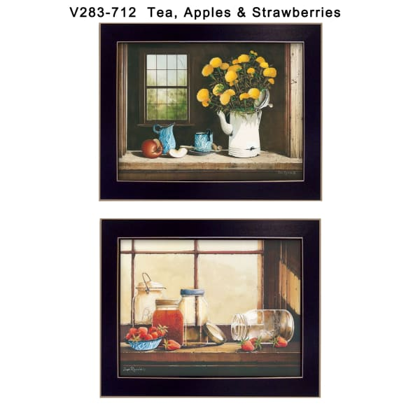 Tea, Apples and Strawberries Collection By John Rossini Framed Wall Art