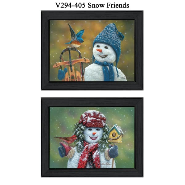 Snow Friends Collection By Kim Norlien Framed Wall Art