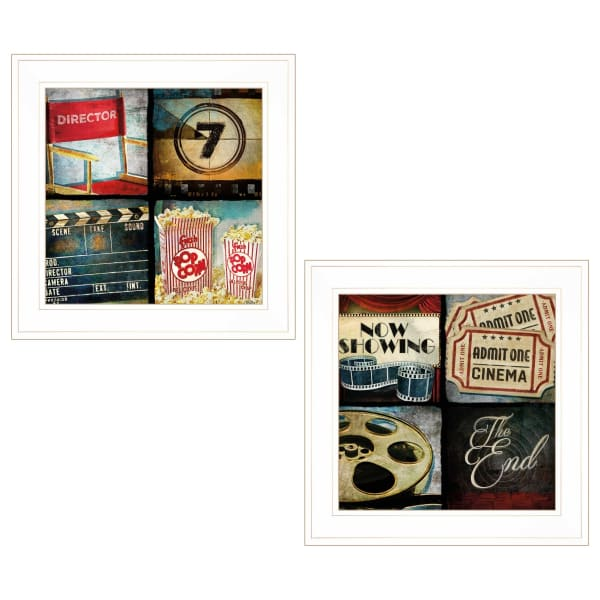 At The Movies By Mollie B  Framed Wall Art