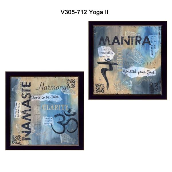 Yoga II Collection By Debbie DeWitt Framed Wall Art