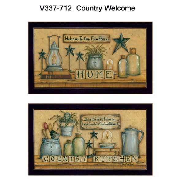 Country Welcome Collection By Mary June Framed Wall Art