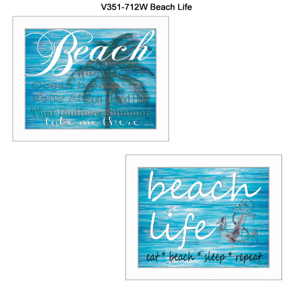 Beach Life Collection By Cindy Jacobs Framed Wall Art