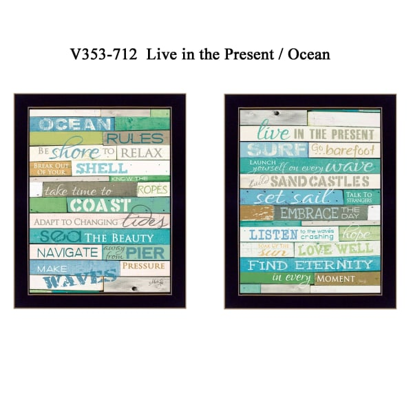 Live in The Present Collection By Marla Rae Framed Wall Art