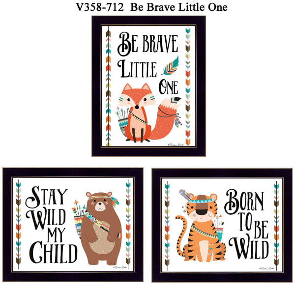 Be Brave Little One Collection By Susan Boyer Framed Wall Art