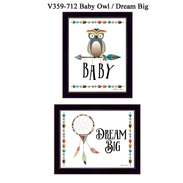 Baby OwlDream Big Collection By Susan Boyer Framed Wall Art