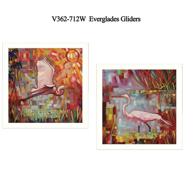 Everglades Gliders Collection By Ed Wargo Framed Wall Art