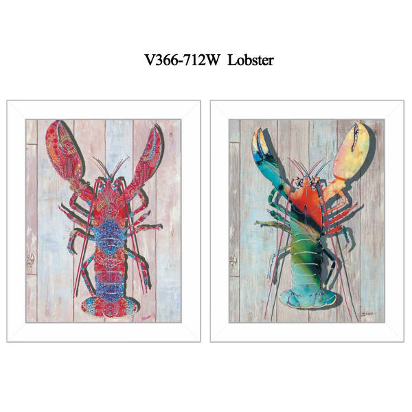Lobster Collection By Sear Framed Wall Art