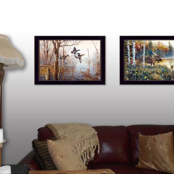 Backwater Mist Collection By Jim Hansen Framed Wall Art