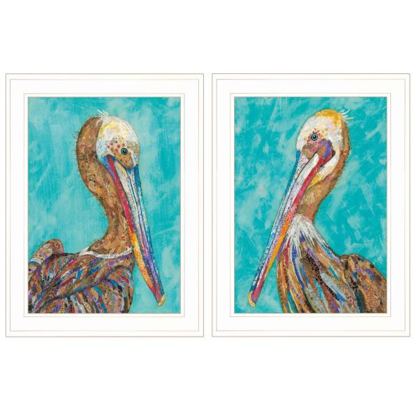 Pelicans By  Lisa Morales Framed Wall Art