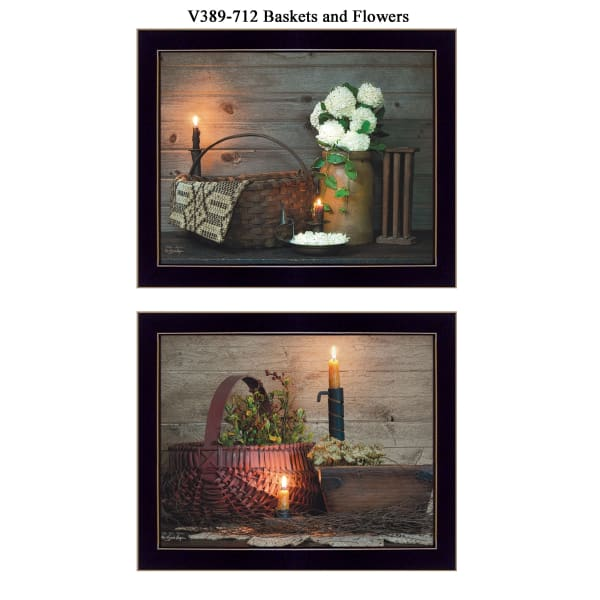 Baskets and Flowers Collection By Susan Boyer Framed Wall Art