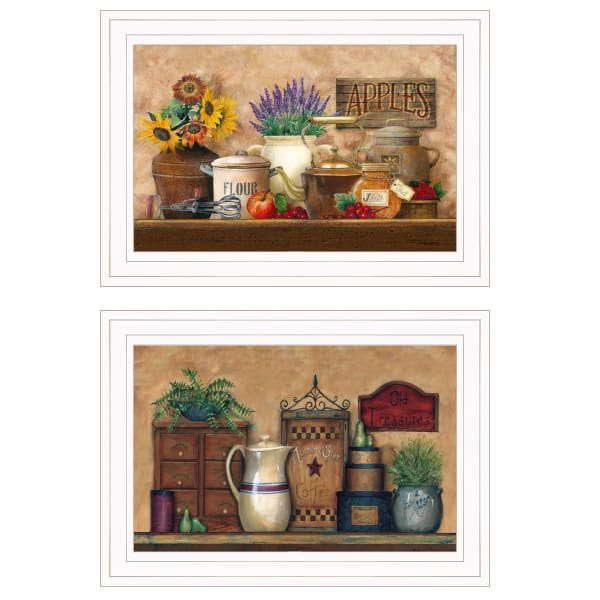 Antique Kitchen Treasures Collection By Ed Wargo Framed Wall Art