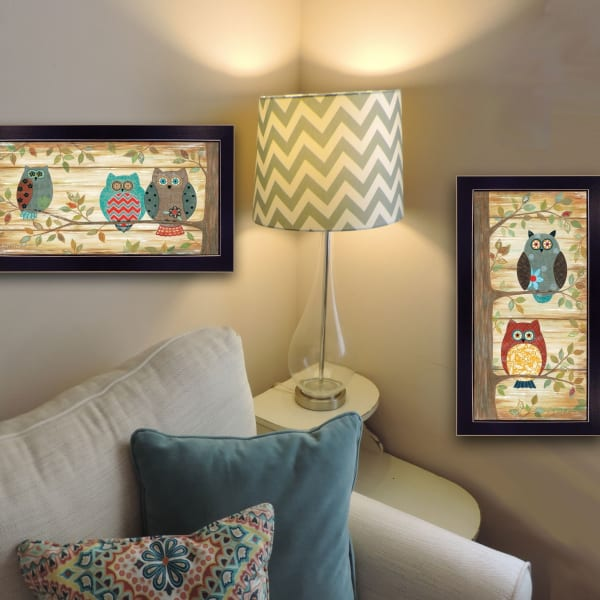 The Wise Owls Collection By Annie La Point Framed Wall Art