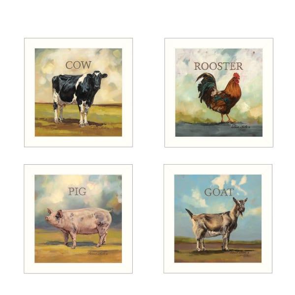 Farm Animals by Bonnie Mohr Framed Wall Art