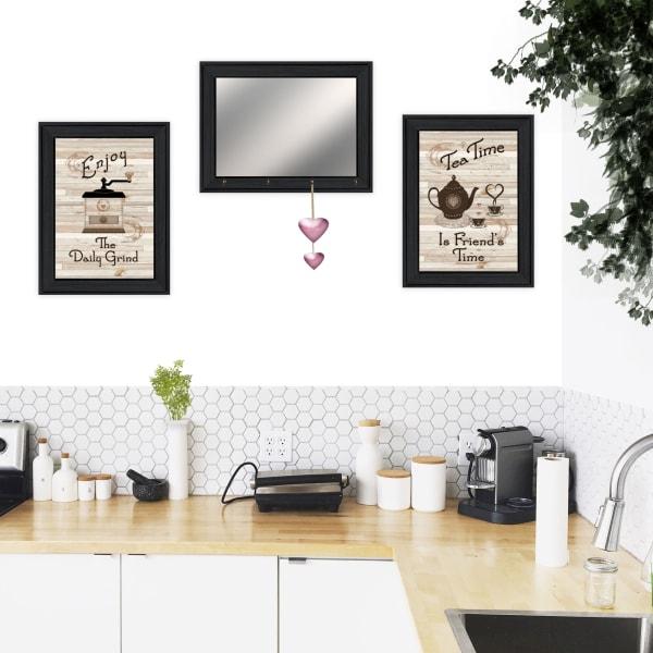 Enjoy Tea Time Framed Wall Art