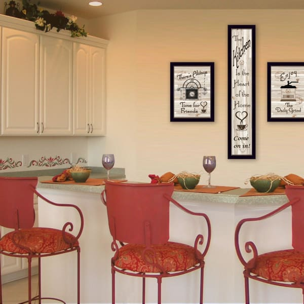 The Kitchen Collection I 3-Piece Vignette by Millwork Engineering Framed Wall Art