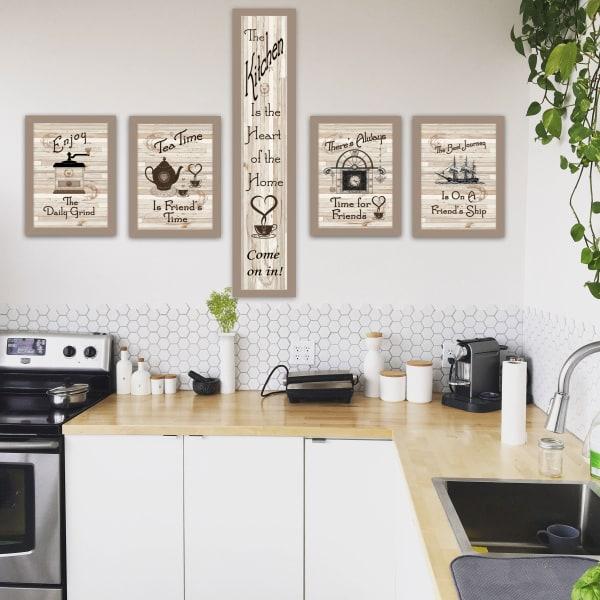 Kitchen Friendship Collection 5-Piece Vignette by Millwork Engineering Framed Wall Art