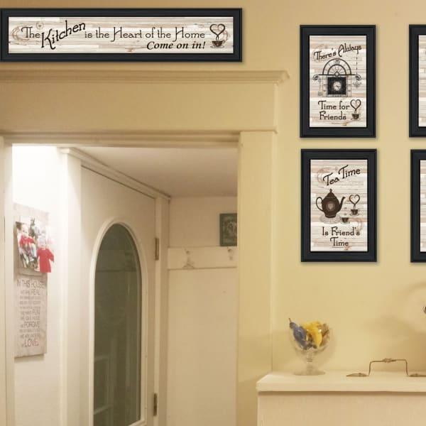 Kitchen Friendship Collection II 5-Piece Vignette by Millwork Engineering Framed Wall Art