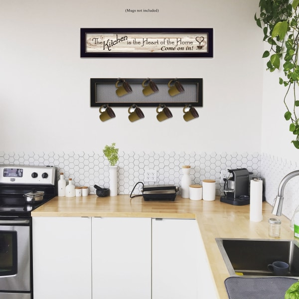 The Kitchen Vignette 2-Piece Vignette with 7-Peg Mug Rack by Millwork Engineering Framed Wall Art