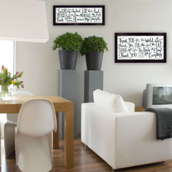 Thank You Lord 2-Piece Vignette by Annie LaPoint Framed Wall Art