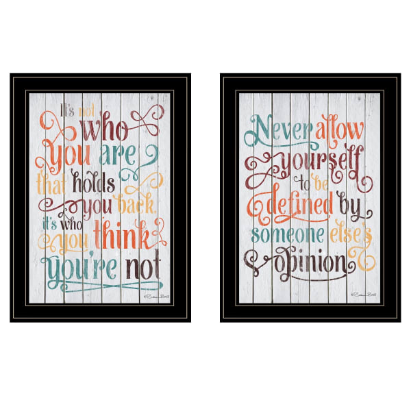 Who You Think 2-Piece Vignette by Susan Ball Framed Wall Art